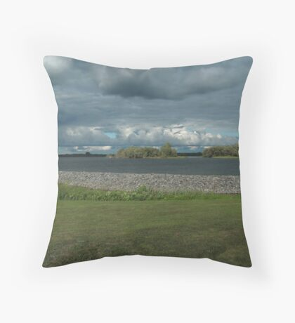 Saint Lawrence River fishing point Throw Pillow