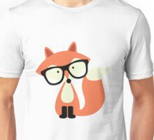 Cute Hipster Red Fox Unisex T-Shirt