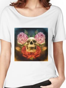 Skull And Rose's  Women's Relaxed Fit T-Shirt