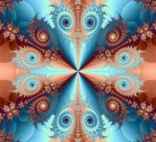 SWYRLS ORANGE BLUE # 2  Sticker