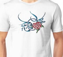 Tribal Red Rose Tattoo Graphic Unisex T-Shirt
