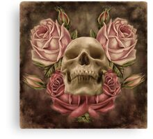 Skull And Rose's 2 Canvas Print