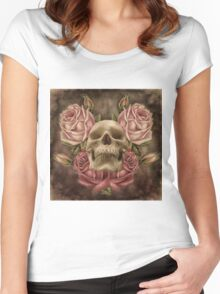 Skull And Rose's 2 Women's Fitted Scoop T-Shirt