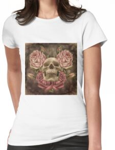 Skull And Rose's 2 Womens Fitted T-Shirt