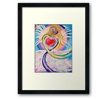Rainbow Angel Framed Print