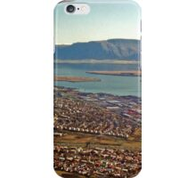 Aerial of Reykjavik, Iceland iPhone Case/Skin