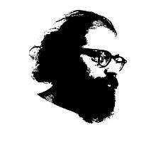 Poet Allen Ginsberg Stencil Photographic Print