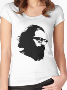 Poet Allen Ginsberg Stencil Women's Fitted Scoop T-Shirt