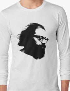 Poet Allen Ginsberg Stencil Long Sleeve T-Shirt