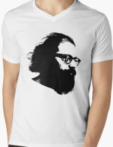 Poet Allen Ginsberg Stencil Mens V-Neck T-Shirt