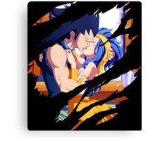 fairy tail gajeel juvia anime manga shirt Canvas Print