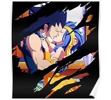 fairy tail gajeel levy anime manga shirt Poster