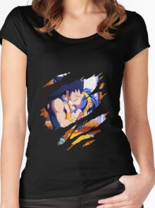fairy tail gajeel levy anime manga shirt Women's Fitted Scoop T-Shirt