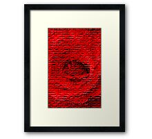 Floral abstract study in red Framed Print