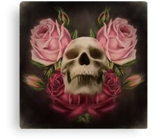 Skull And Rose's 3 Canvas Print