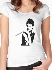 Audrey Hepburn Breakfast At Tiffanys Women's Fitted Scoop T-Shirt