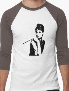 Audrey Hepburn Breakfast At Tiffanys Men's Baseball ¾ T-Shirt
