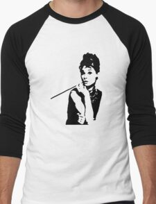 Audrey Hepburn Breakfast At Tiffanys Men's Baseball ¾ T-Shirt