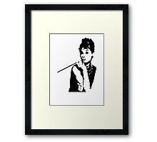Audrey Hepburn Breakfast At Tiffanys Framed Print