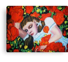 ASLEEP IN THE POPPIES , WIZARD OF OZ Canvas Print