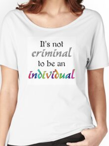 It's Not Criminal - Star Vs Quote Women's Relaxed Fit T-Shirt
