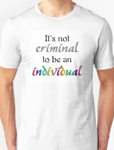 It's Not Criminal - Star Vs Quote Unisex T-Shirt