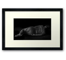 repose in shadow Framed Print