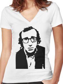 Annie Hall Woody Allen Stencil Women's Fitted V-Neck T-Shirt