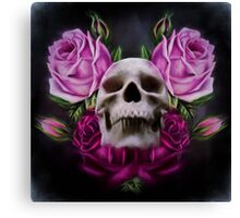 Skull And Rose's 4 Canvas Print