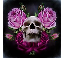 Skull And Rose's 4 Photographic Print