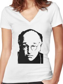 Seinfeld Comedian Larry David Women's Fitted V-Neck T-Shirt