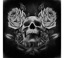 Skull And Rose's 5 BW Photographic Print