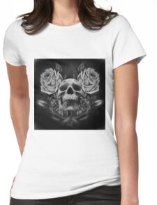 Skull And Rose's 5 BW Womens Fitted T-Shirt