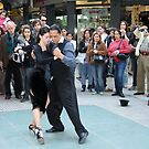 Tango dancers in Buenos Aires by Maggie Hegarty