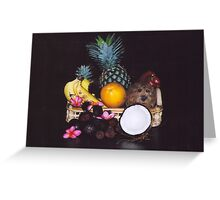 fruit with cocoanut Greeting Card