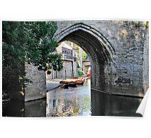 View through an arch of Elvet Poster