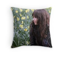 Zoe Kravitz in Central Park Throw Pillow