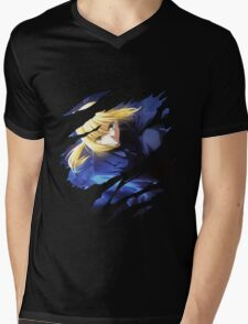 fate zero saber anime manga shirt Mens V-Neck T-Shirt