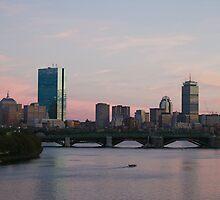 Pink Skies in Boston by LauraPlad