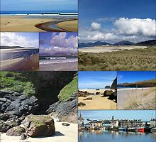 The Blue Of Summer - Hebridean Collage by Kathryn Jones