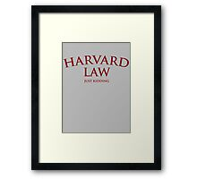 Harvard Law Framed Print