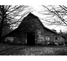 Old Creepy Barn Photographic Print