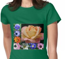 Spring and Summer Flowers Collage featuring Rose Womens Fitted T-Shirt