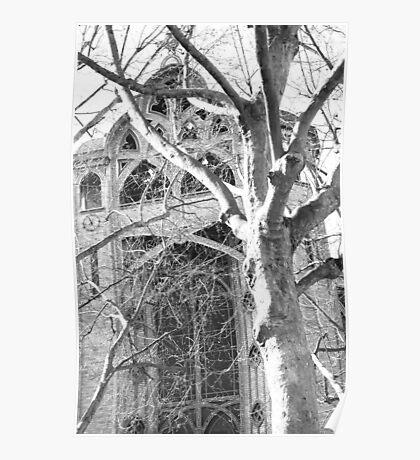 Paris Church Yard Poster