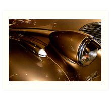 Chevy Gold Art Print