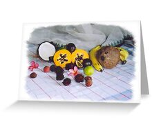 tropical fruit spread Greeting Card