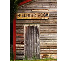 The Billiard Room Photographic Print