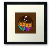 Romantic Owls Framed Print