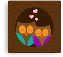 Romantic Owls Canvas Print