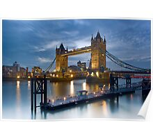 Tower Bridge and the Thames - London, England Poster